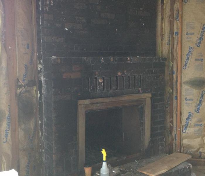Fireplace damage in Lakeport Before