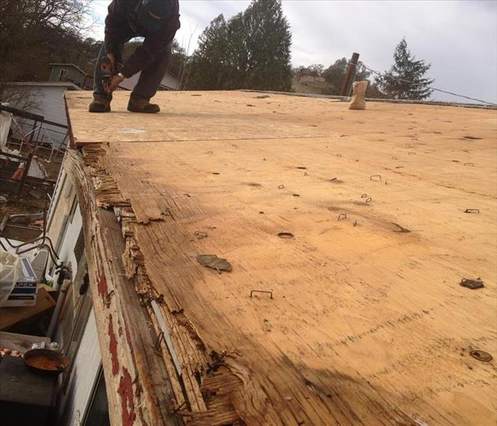 Roof damage in Mendocino