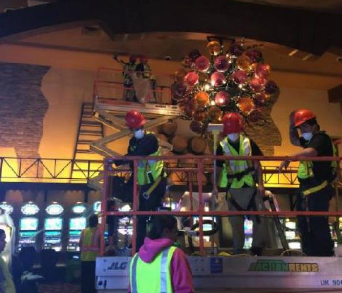 Twin Pine Casino smoke cleanup